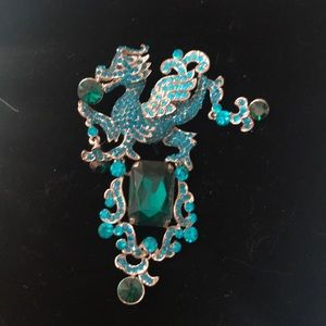 Jewelry - Gorgeous dragon statement Brooch/slide